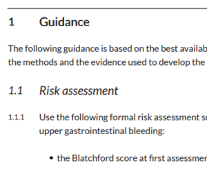 Guideline example