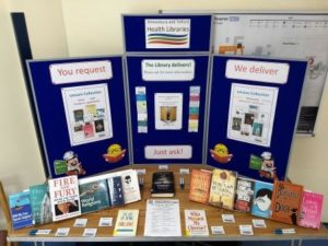 Pop-up Library @ Apley Restaurant Corridor, Princess Royal Hospital